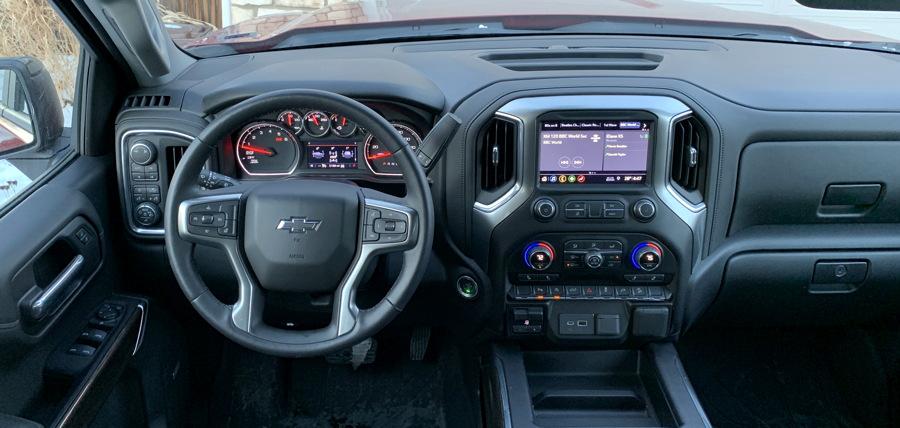 driver's cockpit, 2019 chevy silverado