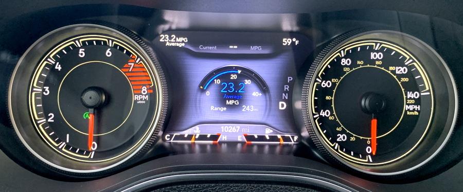 2019 jeep cherokee trailhawk elite - dashboard gauges