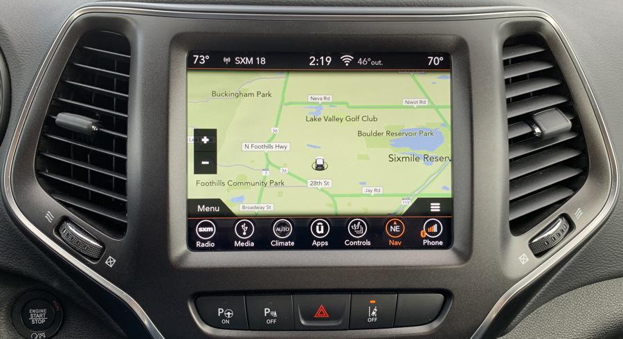 jeep entertainment center - map