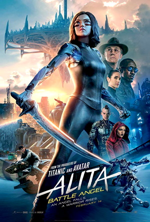 alita battle angel movie poster one sheet