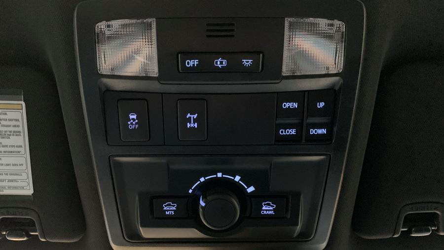 2019 toyota tacoma trd offroad - overhead controls