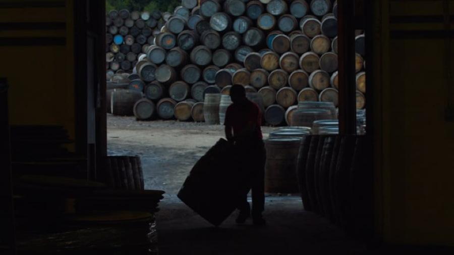 "scotch whisky barrels piled up, from ""Scotch: A Golden Dream"""