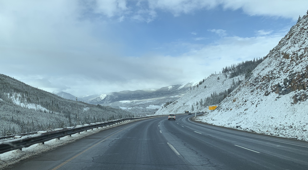 colorado rocky mountains, highway i70, snow spring