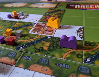 the oregon trail game - journey to willamette valley - pressman - review board game