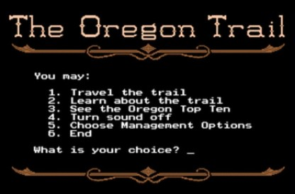 oregon trail 1971 game main screen