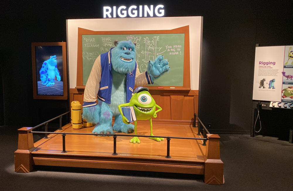 rigging exhibit - science behind pixar - denver museum nature science monsters inc