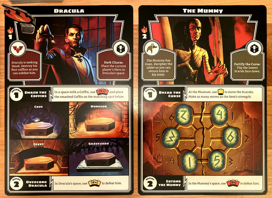 horrified game - monsters - dracula & the mummy