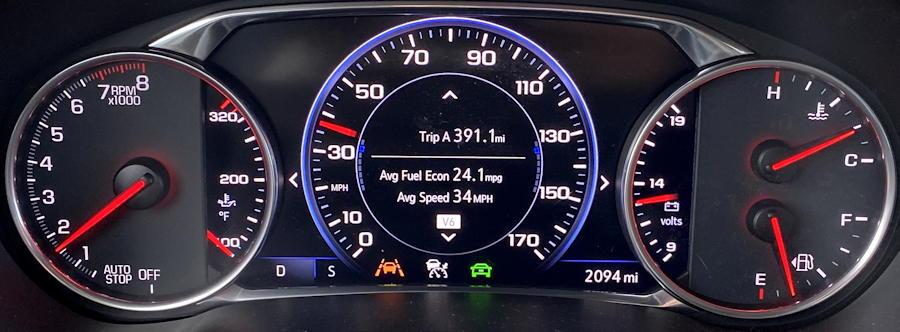 2020 Chevy Blazer - main gauge cluster