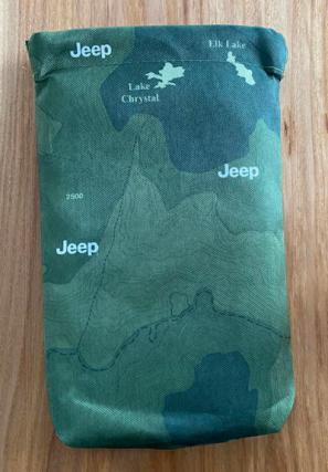 jeep users guide bag - green outdoor map
