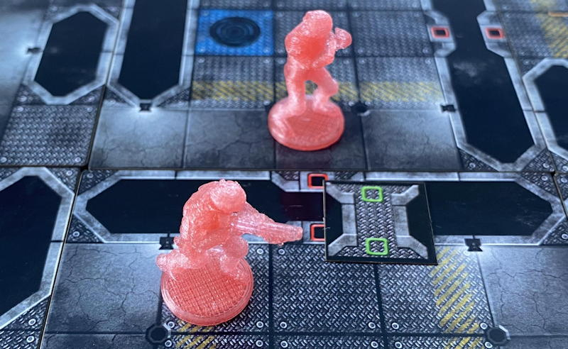 tactical tech board game - close up of narrow wall