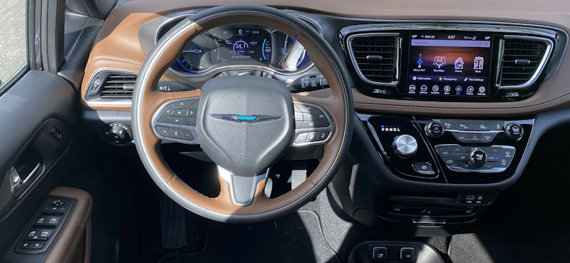 2019 chrysler pacifica hybrid ltd - dashboard