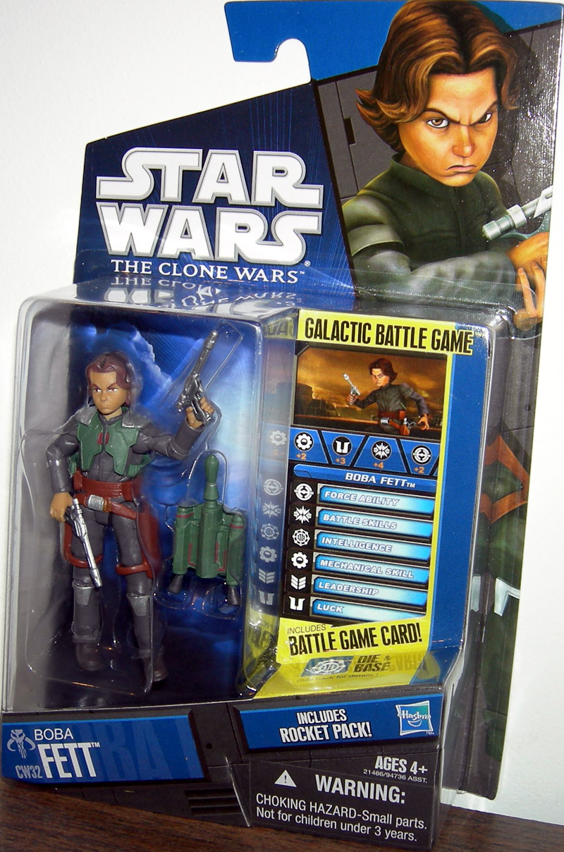 Boba Fett Cw32 Figure Star Wars Clone Wars Hasbro