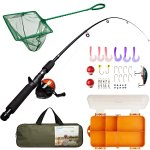 Lanaak Kids Fishing Rod & Reel Combo Kit with Tackle Box
