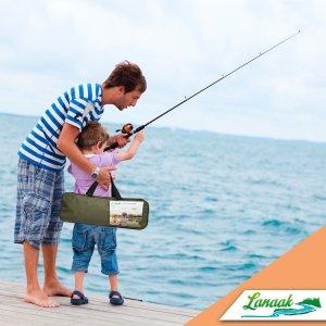 Lanaak Kids Fishing Rod & Reel Combo Kit with Tackle Box