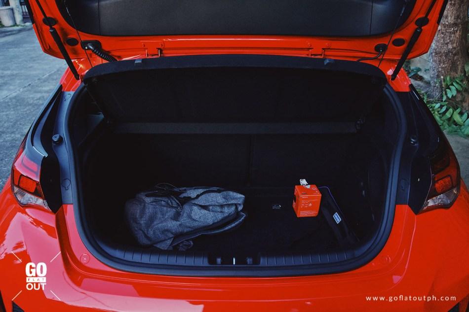 2019 Hyundai Veloster Turbo Trunk Space