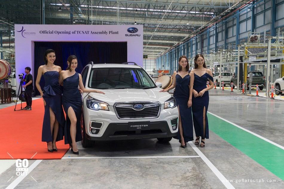 Subaru Ambassadors and Asia's Next Top Model At The TCSAT Opening