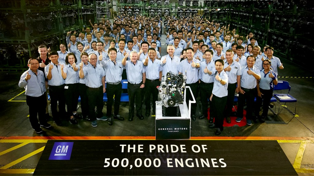 GM Powertrain Thailand Celebrates 500,000th Engine Production Milestone
