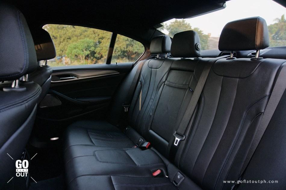 2020 BMW 520d M Sport Rear Seats