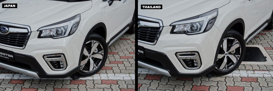 Front fascia of of Thai-Made and Japan-Made Forester
