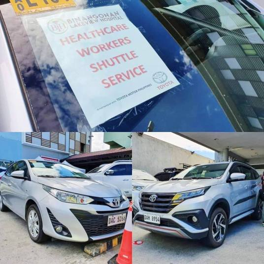 Toyota PH Deploys Its Company Cars, Test Units To COVID-19 Frontliners