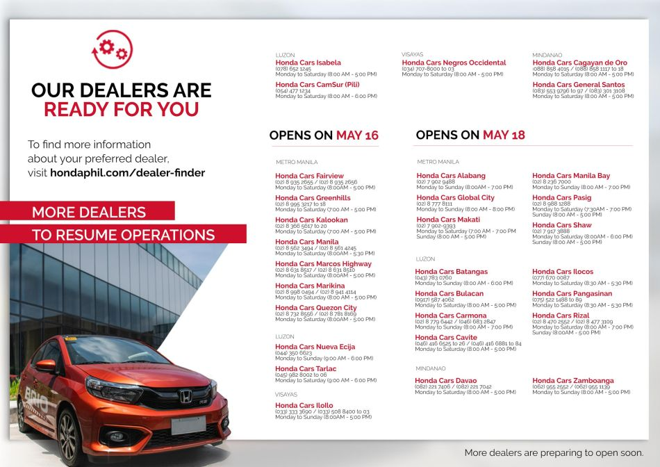 Honda Dealers Nationwide Are Open To Serve You
