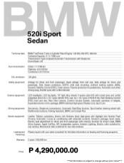 2020 BMW 520i Sport Specs