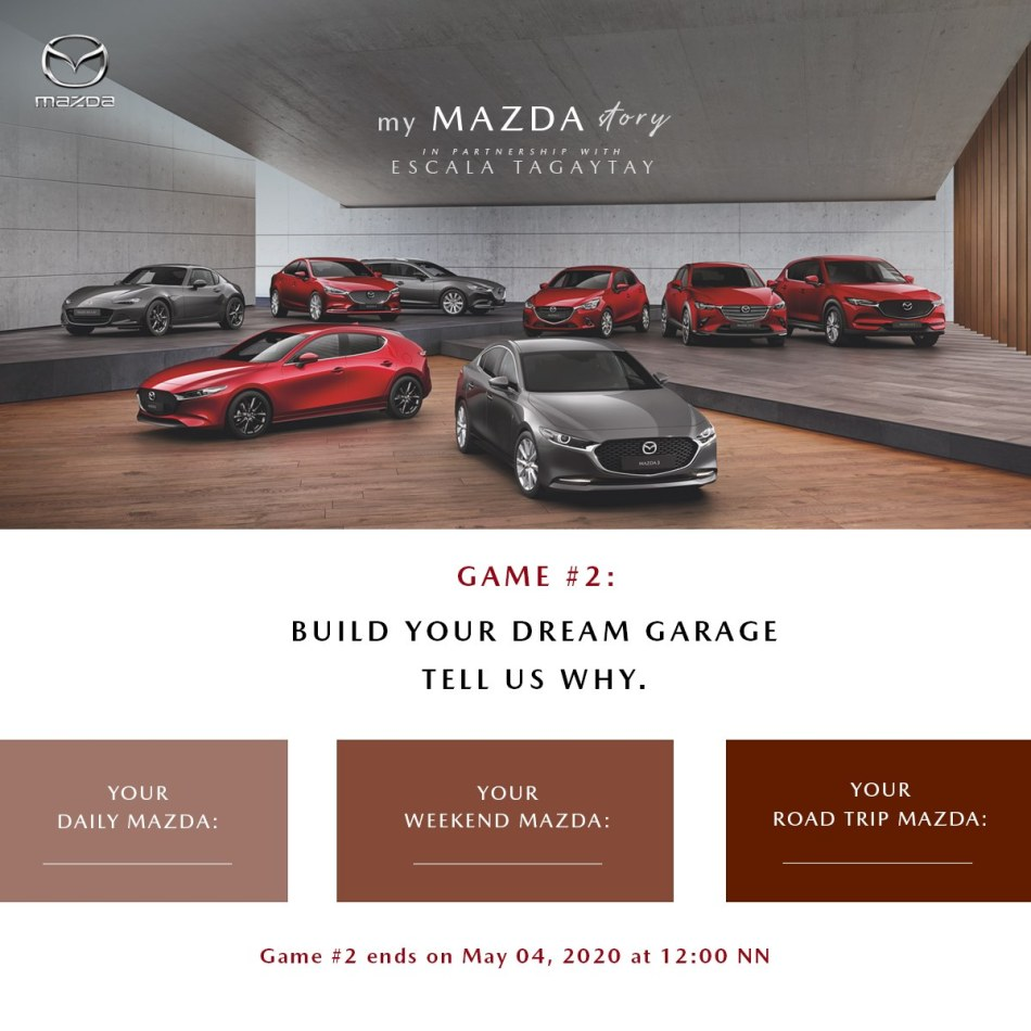 Post Your Mazda Story, Win A Dinner For Two At Escala Tagaytay