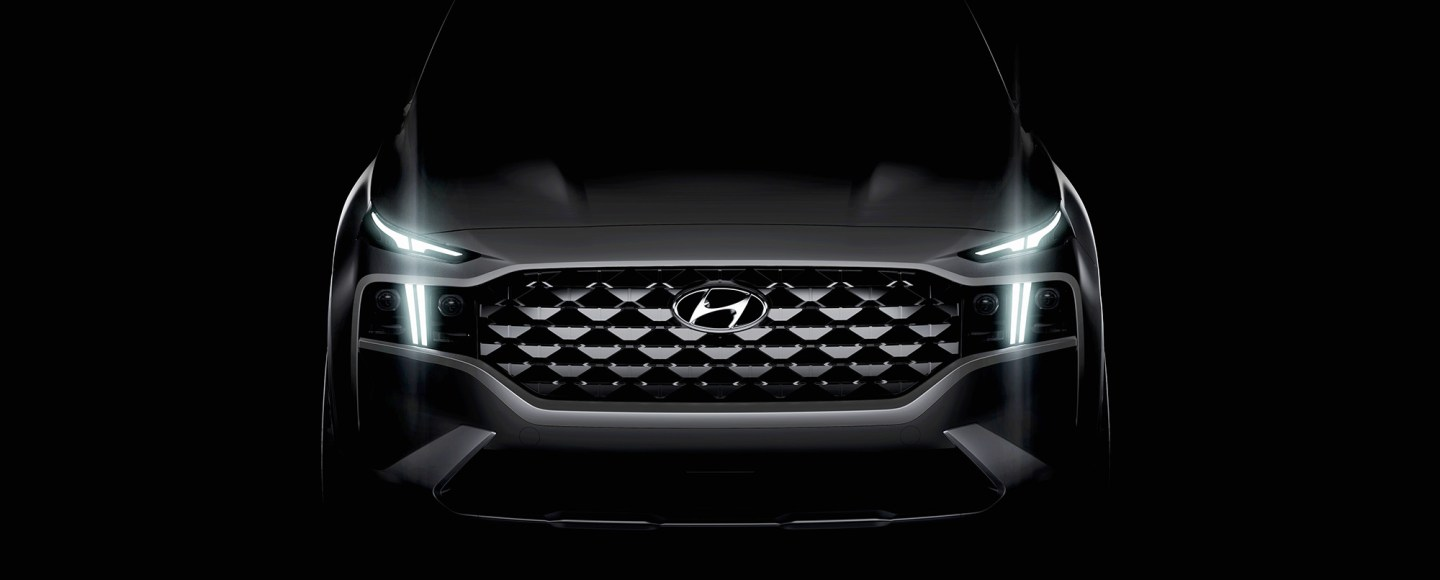 Hyundai Santa Fe Facelift Teased, Showing Its Wider Grille