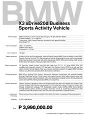 2020 BMW X3 xDrive20d Business Specs