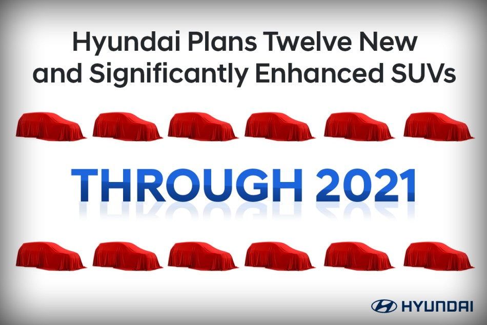 Hyundai Will Launch 12 New SUVs By The End Of 2021
