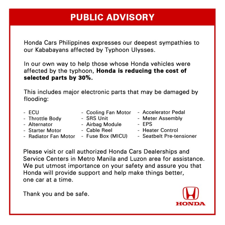 Honda Helps program