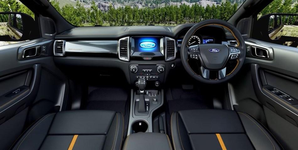 2021 Ford Ranger Wildtrak Interior