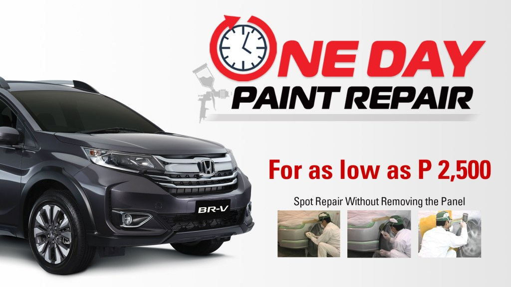 These Honda Cars Dealers Are Offering One-Day Paint Repair