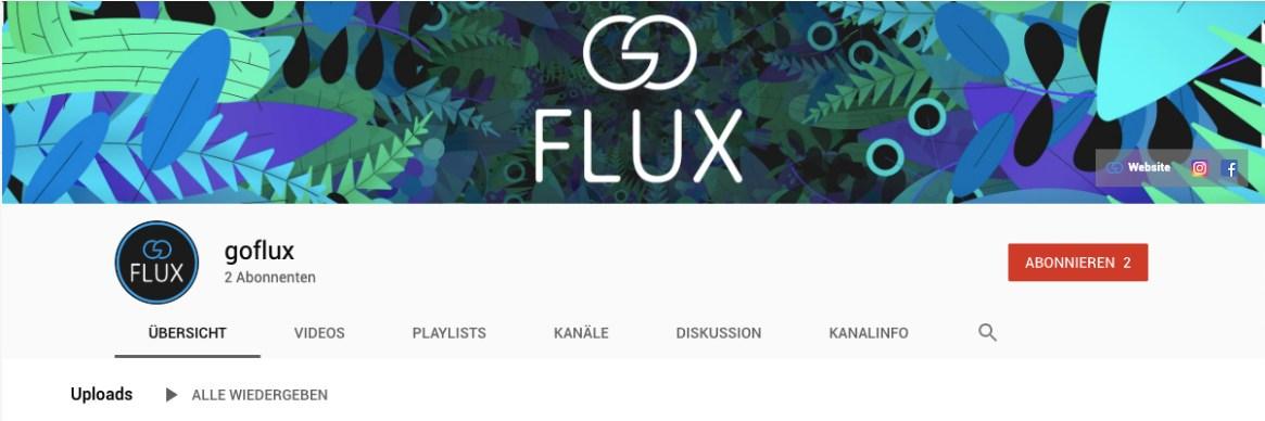 Youtube; goFLUX