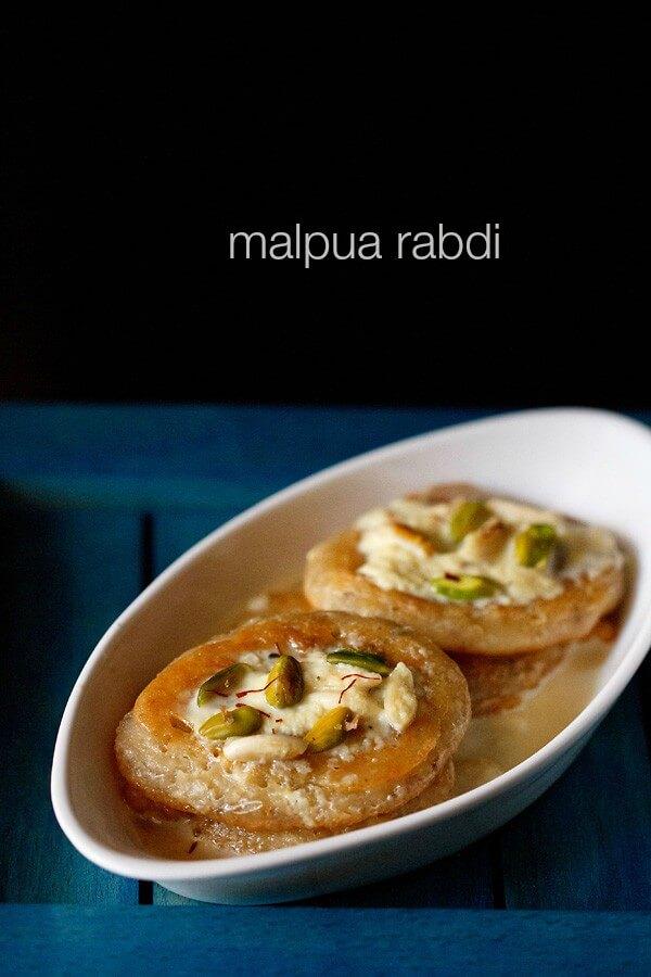 Malpua Rabdi – Dessert Served With Creamy Milk