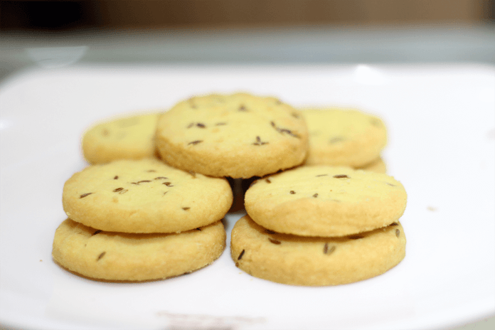 Eggless Cumin Cookie Recipe