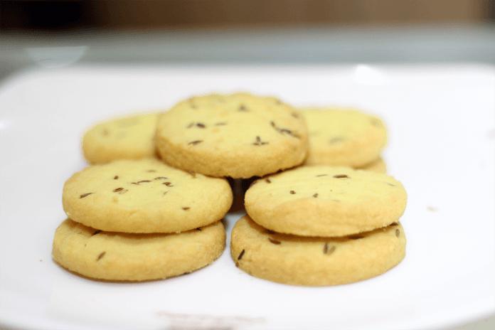 Eggless Cumin Cookie Recipe