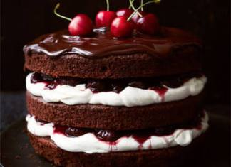 Black Forest Cherry Cake-Vegan Dessert