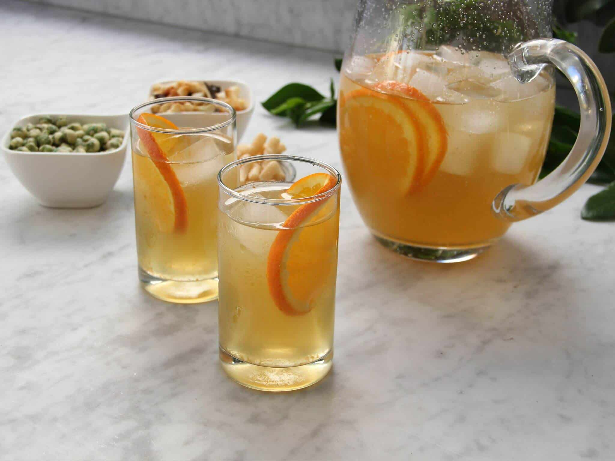 Green Tea and Orange Cooler
