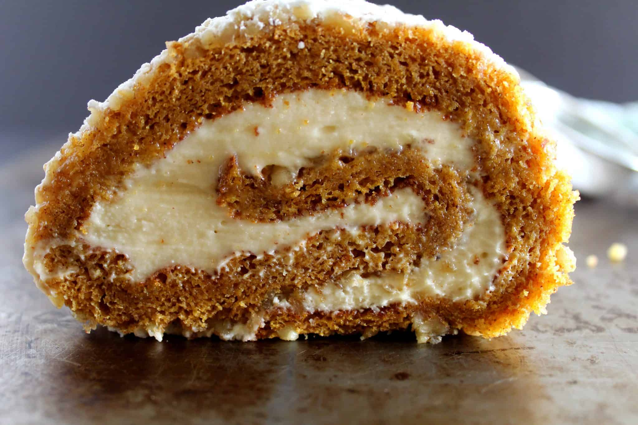 Pumpkin Cake Roll – CreamCheese Filled Rolls