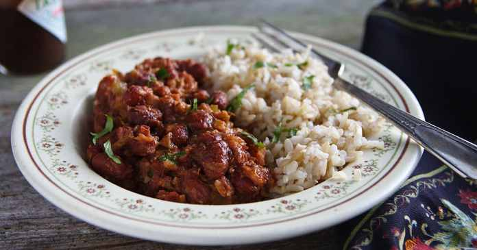 Beans Rice With Mushrooms