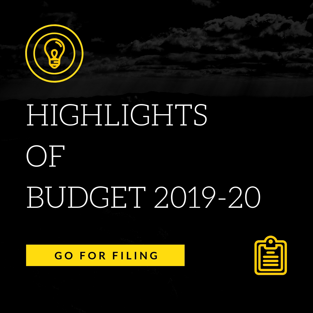 Highlights of Budget 2019-20