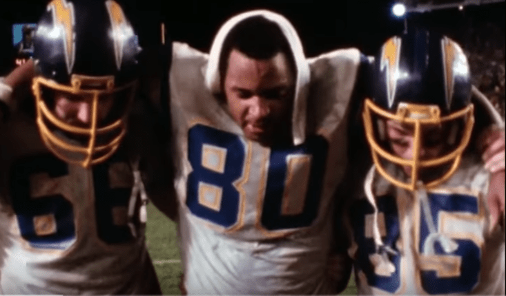Kellen Winslow carried off the field after Epic in Miami