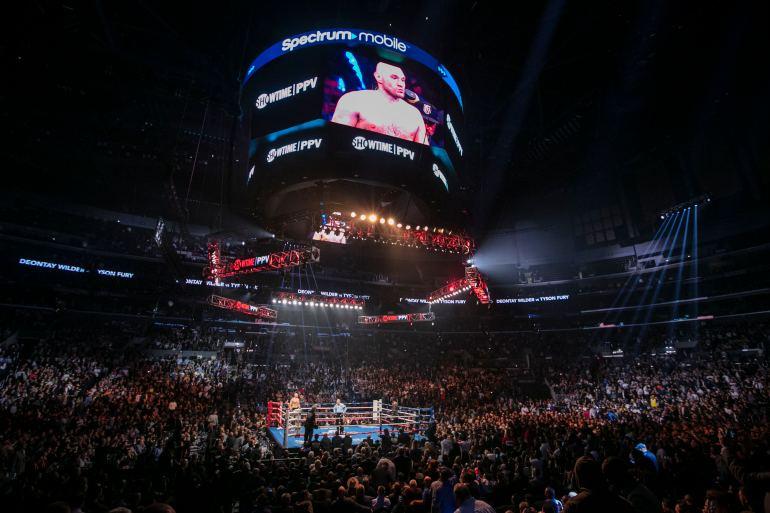 Staples Center during Wilder-Fury