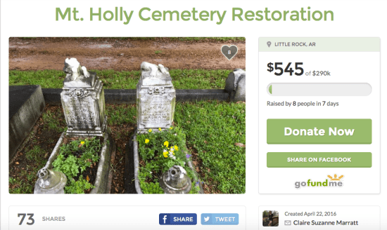 Mt Holly Cemetery GoFundMe
