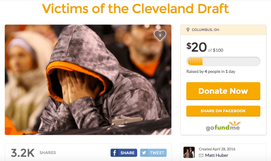 Cleveland Browns GoFundMe
