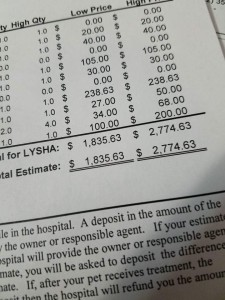 lysha estimate