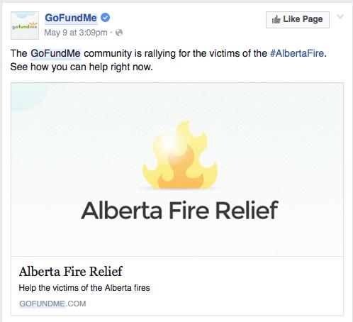 Alberta fire Gofundme