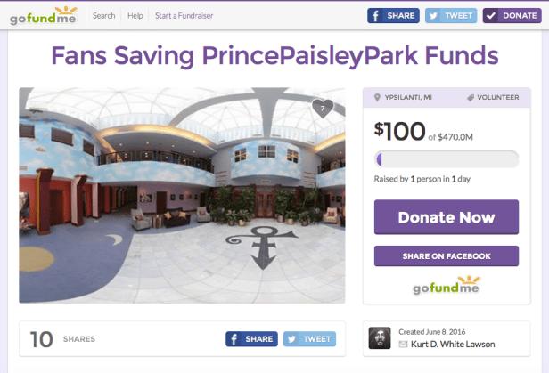 Paisley Park Gofundme
