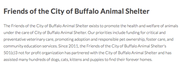 Friends of the City of Buffalo Animal Shelter